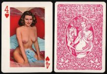 Pin-up vintage collctable playing cards. Esquire, large A5